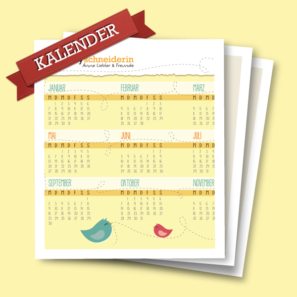 Hobbyschneiderin-Kalender Download 2013