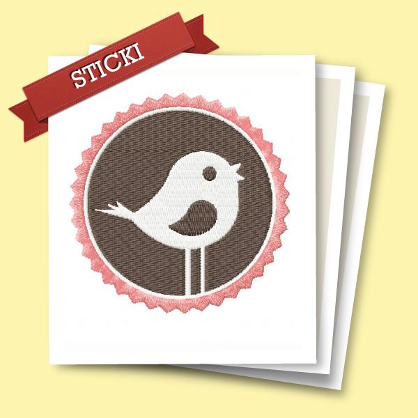 Stickdatei Vogel kostenlos von Gila