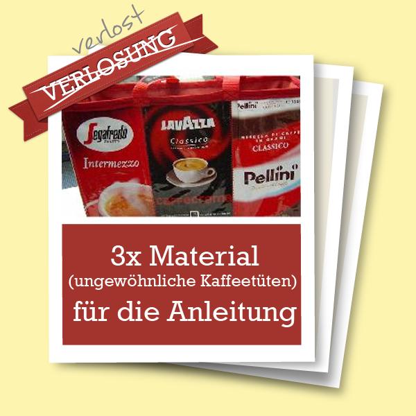 Material Kaffeetüten-Tasche Anleitung
