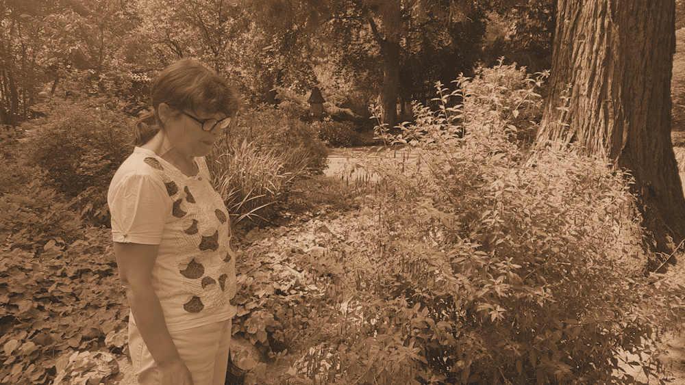 Anne Liebler im Japanischen Garten Leverkusen